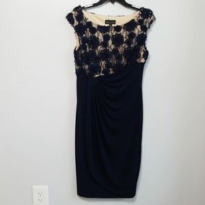 NWT Navy and Nude Dress size 8 Connected apparel